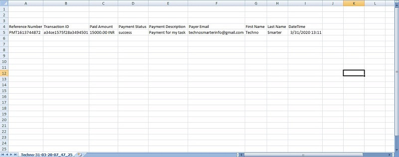 Import Excel using PHP and MYSQL database | Payment form invoice