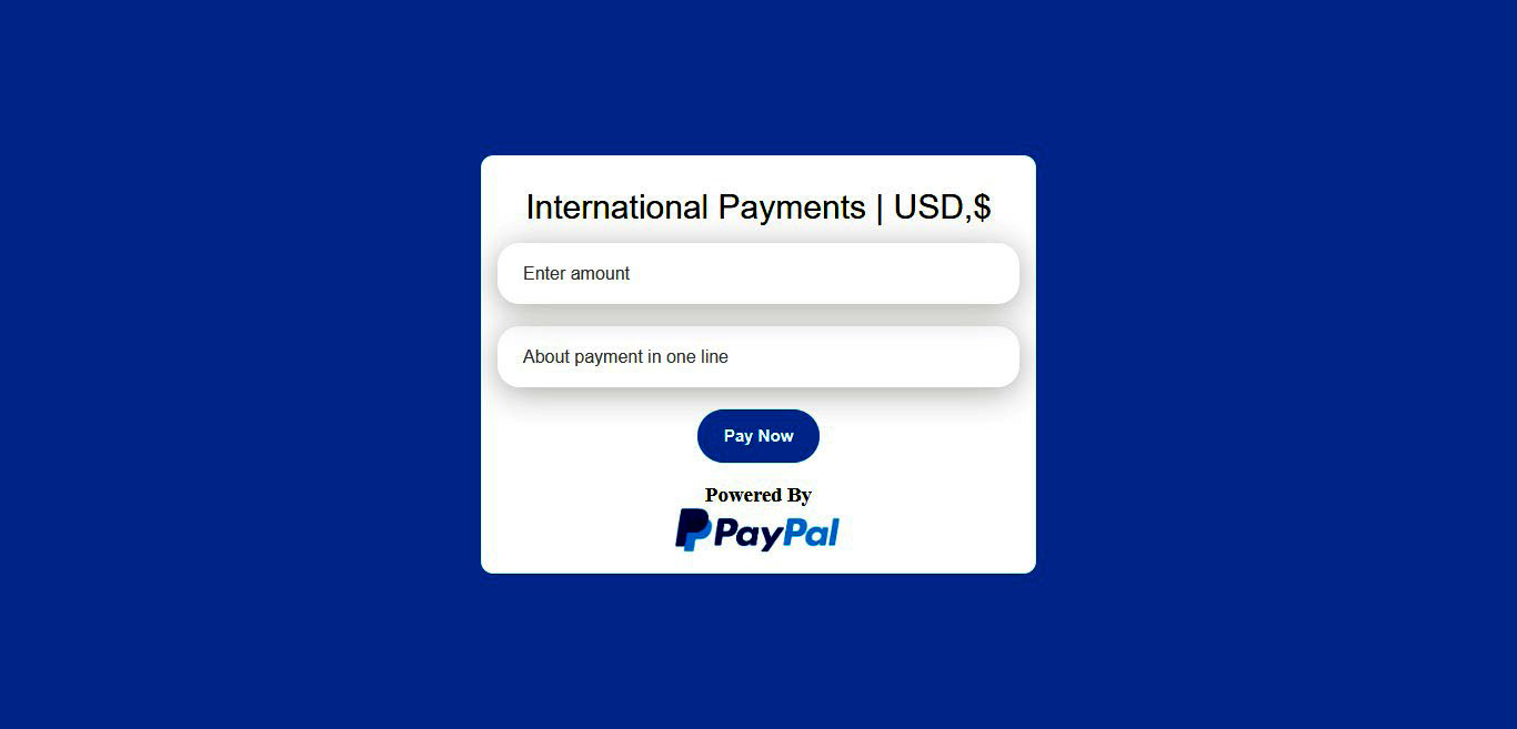 Paypal Payment Gateway payment form in PHP