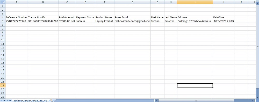 Payment invoice in Excel using PHP .Generate excel format in PHP with MYSQL database