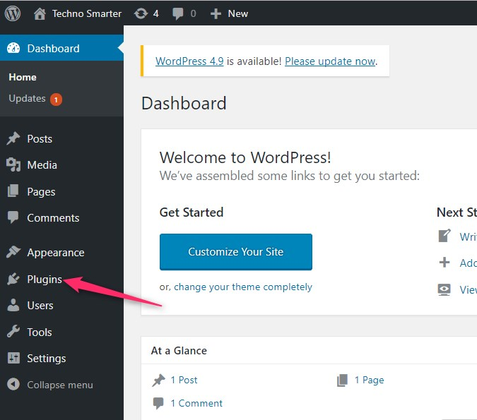 Wordpress plugins on Dashboard