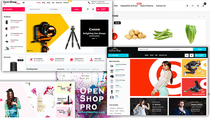 Best wordpress ecommerce theme open shop pro