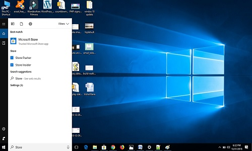 find microsoft store in windows 10