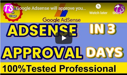 get google adsense approval in 3 days tutorial