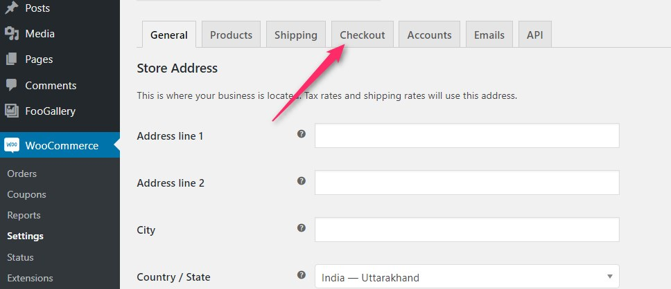 Woocommerce cheackout or payment option