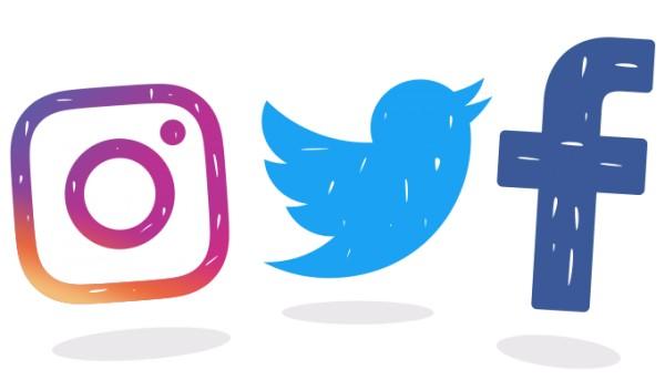 Facebook twitter instgram