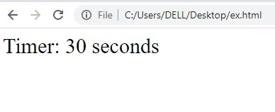 30 second countdown timer in JS