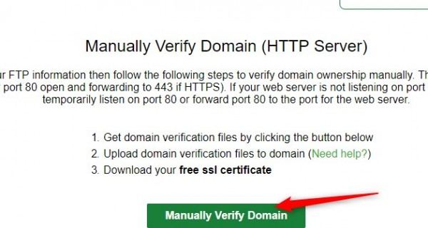 get free SSL security for website