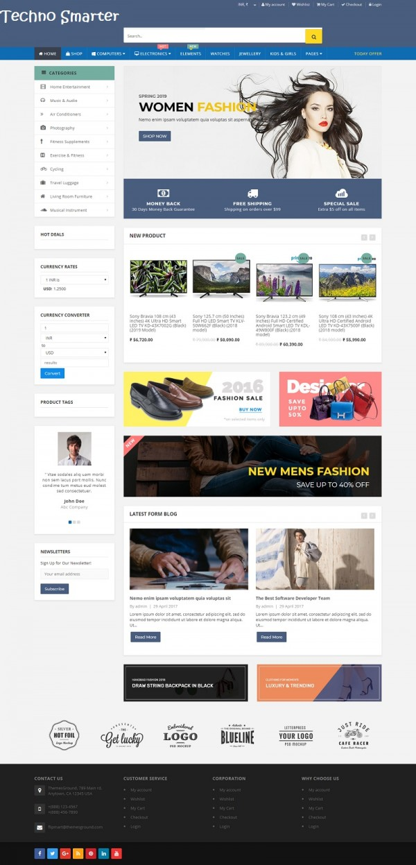 Wordpress Flipmart theme installed screenshot