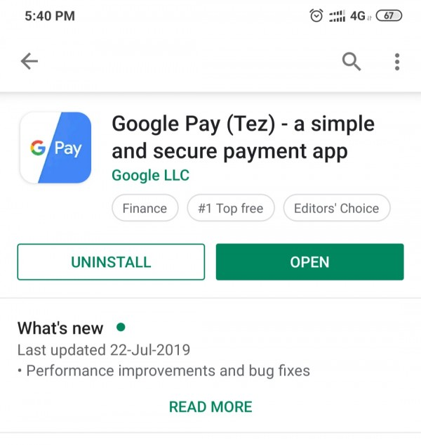 Google pay tez android app
