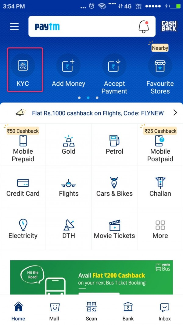 paytm kyc icon