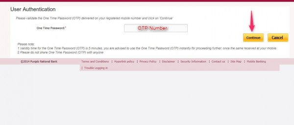 change PNB bank ATM pin online