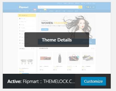Flipmart wordpress theme setup on wordpress