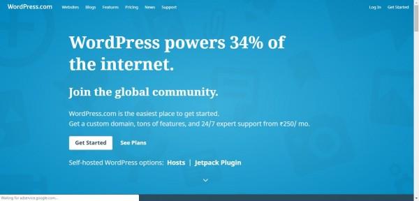 Create free website with wordpress.com