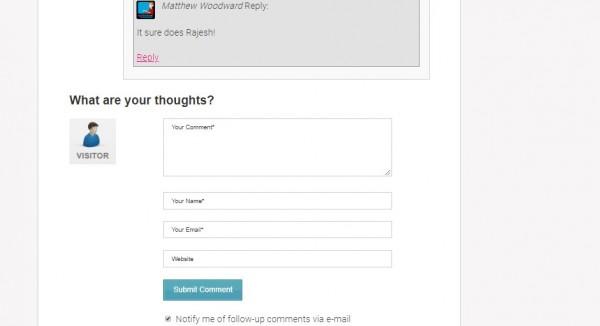 website comment form