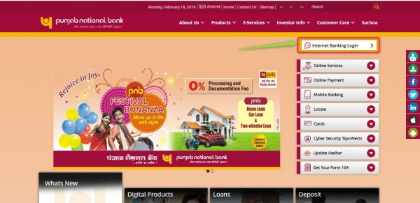PNB bank official website