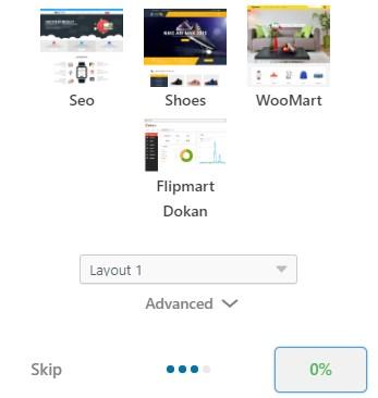 Flipmart wordpress theme demo content import