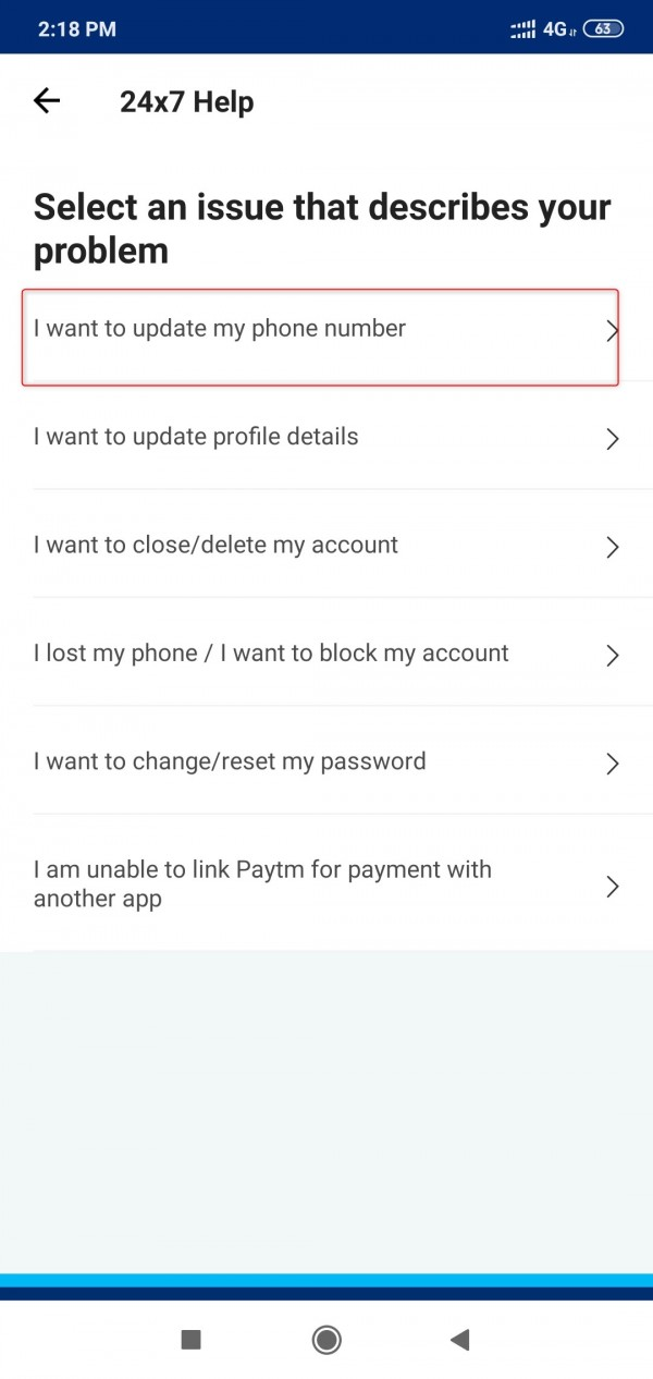 How to update paytm mobiler number without OTP?