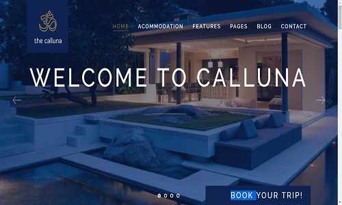 Hotel Calluna Wordpress Theme