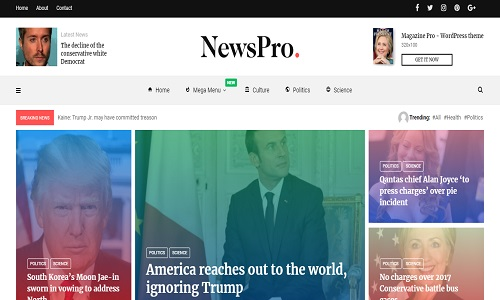Wordpress Blog and News  Theme
