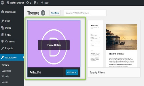 divi theme installation